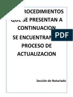 Procesos Documentados de La Sección Del Notariado