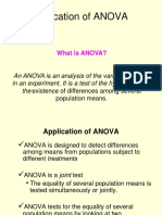 Application of ANOVA