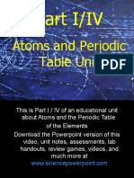Atoms and Periodic Table Unit Part I / IV for Educators - Download .ppt at www.sciencepowerpoint.com