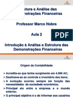 Aula 2 Introdução á Analise e Estrutura das Demonstrações Financeiras