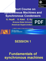 A Short Course on Synchronous Machines and Synchronous Condensers