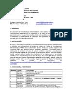 Programa Lab Microbiología Ambiental