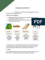 5 Factores de La Produccion