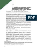 Estrategia de PCR múltiple para la caracterización molecular simultánea de Staphylococcus aureus y enterotoxinas estafilocócicas en aislamientos de brotes de origen alimentario