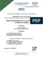 Etude Hydrologique Des Crues d - GUENNOUNI HASSANI Meriem_3175
