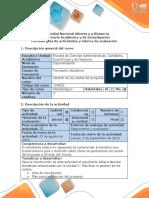 Guía de Actividades y Rúbrica de Evaluación - Paso 1 - Reconocer La Importancia de Los Costos