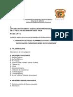Protocolo INVESTIGACION Dereho Uaem