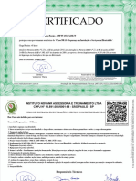 Curso NR 10 Segurança Em Instalações e Serviços Em Eletricidade-CERTIFICADO de CONCLUSÃO 3632