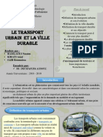 Transport Urbain Et Ville Durable