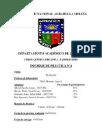 informe sobre Destilación
