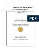 Characterization of Clays and Clay Minerals for Industrial Applications