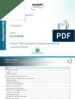 Unidad 1. Marco Conceptual y Aspectos Generales de La Politica Criminal