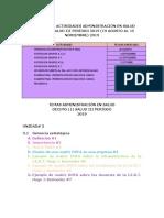Cronograma Actividades y Temas Salud 101 III Periodo 2019