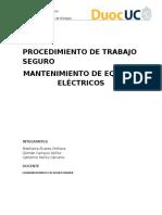 PTS Mantenimiento de eléctricos