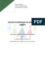 Estudio de Beneficios de Genero 2006 2012