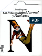 BERGERET = La personalidad normal y patológica = Gedisa. 1e, 1974 (RI 2005) [S]