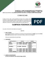 CONVOCATORIA OLIMPIADA FEDERADA