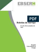 BOLETIM DE SERVIÇO 119, de 10 de setembro 2019