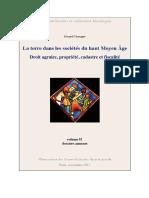 !!! La Terre Dans Les Sociétés Du Haut Moyen Âge Droit Agraire, Propriété-Tome2