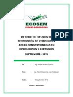 Informe Difusión de Restricción - Ecosem