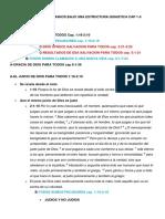 BOSQUEJO DE ROMANOS BAJO UNA ESTRUCTURA QUIASTICA CAP 1-5