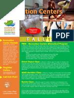 PRR REC Fall 2019 Recreation Centers Combo Flyer