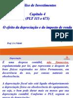 CapÃ-tulo 4 - O Efeito da Depreciação e do Imposto de Renda