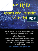 Atoms and Periodic Table Unit Part II/IV for Educators - Download .ppt / Unit at www.sciencepowerpoint.com