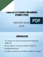 Foda de La Clinica Milagrosa Examen Final