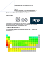 Tendencias Periodicas de Los Radios Atómicos e Ionicos