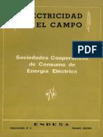 ENDESA (1958) - Electricidad en el Campo. Sociedades Cooperativas de Consumo de Energía Eléctrica