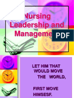 L9 - Nursing Leadership and Management