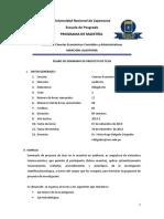 Silabo Metodología Auditoria 2019