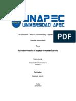 Políticas Comerciales de Los Países en Vías de Desarrollo (1)