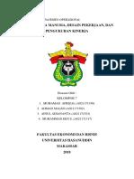 Tugas MO ~ SDM, Desain Pekerjaan, & Pengukuran Kinerja.docx