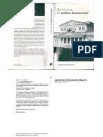 (PDF) EL ANÁLISIS INSTITUCIONAL - RENÉ LOURAU