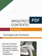 Arquitectura y Contexto (1) Silvia