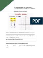 Una Función Lineal Representa a Una Ecuación de Primer Grado Con Dos Variables