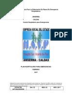 Plan Hospitalario de Emergencias Anserma