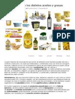 Diferencias Entre Los Distintos Aceites y Grasas – Blog FoodVAC