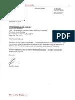 President Gabel's Reply to Senator Anderson 9-19-19