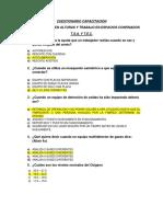 Cuestionario Capacitacion Entrenamiento en Pista
