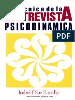 Técnicas de la entrevista psicodinámica.