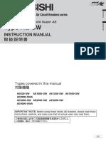 SuperAE-SW - Instruction Manual IB(NA)-63332-B (10.05)