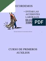 PREVENCION PRIMEROS AUXILIOS