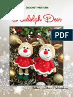 Navidad reno crochet