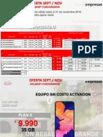 Elige Tu Plan y Equipo Claro 09 2019