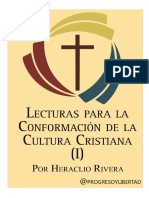 Lecturas Para La Conformación de La Cultura Cristiana I