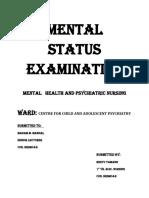 Mental Status Examination New Ranchi
