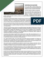 Historia de Huaycán